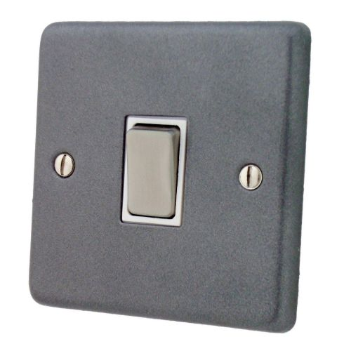 G&H CP201 Standard Plate Pewter 1 Gang 1 or 2 Way Rocker Light Switch